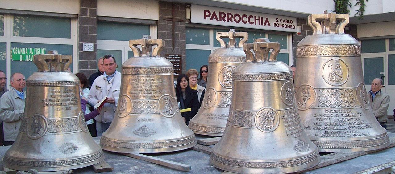 Campane Chiesa S.Carlo Borromeo Roma - Campane Marinelli