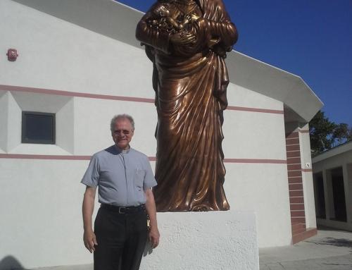 Madonna in bronzo destinata alle Isole Turks e Caicos – Bahamas