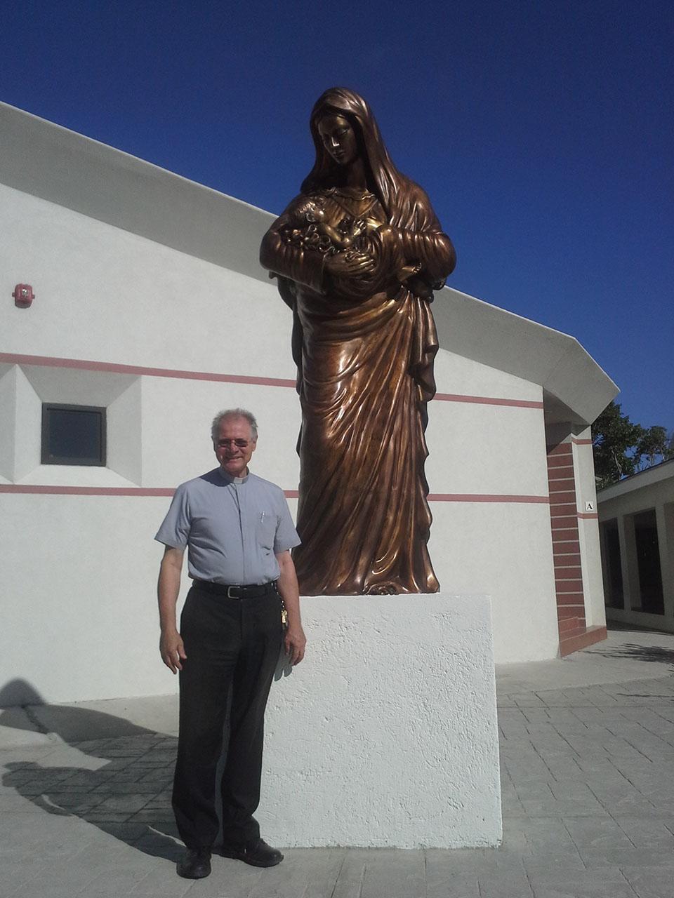 Madonna in bronzo nelle isole Turks e Caicos - Fonderia Marinelli